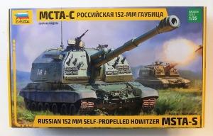 ZVEZDA 1/35 3630 RUSSIAN 152 MM SELF-PROPELLED HOWITZER MSTA-S