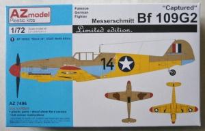 AZ MODEL 1/72 7496 CAPTURED MESSERSCHMITT Bf 109G2