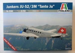 ITALERI 1/72 150 JUNKERS Ju 52/3M CIVIL