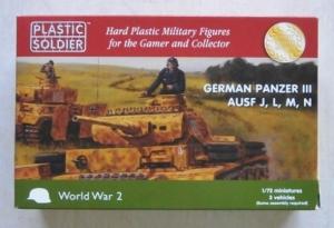 PLASTIC SOLDIER 1/72 WW2V20018 GERMAN PANZER III Ausf.J L M N