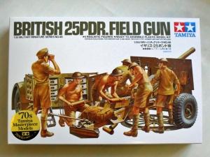 TAMIYA 1/35 35046 BRITISH 25pdr FIELD GUN