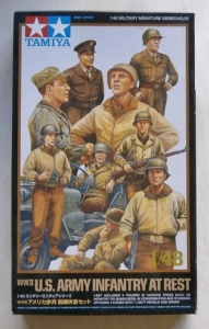 TAMIYA 1/48 32552 WWII US ARMY INFANTRY AT REST WITH JEEP