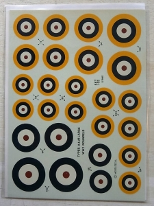 MODELDECAL 1/72 474. 102 BRITISH ROUNDELS 1938-1947 LARGE TYPES A   A1