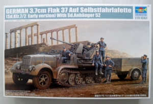 TRUMPETER 1/35 01525 Sd.Kfz 7/2 EARLY 3.7 cm FLAK 37 WITH SD.ANHANGER 52