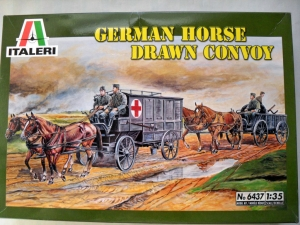 ITALERI 1/35 6437 GERMAN HORSE DRAWN CONVOY