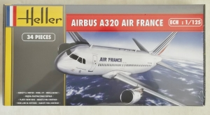 HELLER 1/125 80448 AIRBUS A320 AIR FRANCE OLD   NEW SCHEME