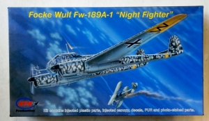 MPM 1/72 72529 FOCKE WULF Fw 189A-1 NIGHT FIGHTER