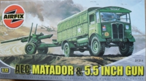 AIRFIX 1/76 01314 MATADOR   5.5 INCH GUN