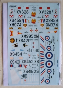 XTRADECAL 1/72 72200 EE/BAC LIGHTNING T.4/T.5 Pt.1