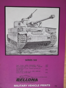 BELLONA VEHICLE PRINTS  SERIES 06 CROMWELL Pz.Kpfw IVJ JEEP StuG III