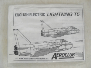 AEROCLUB 1/72 ENGLISH ELECTRIC LIGHTNING T5 CONVERSION SET