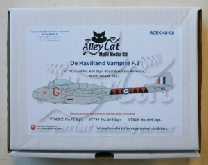 ALLEY CAT 1/48 48-08 DE HAVILLAND VAMPIRE F.3