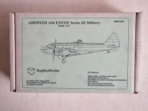 RUGRAT 1/72 7204 AIRSPEED AS6 ENVOY SERIES III MILITARY