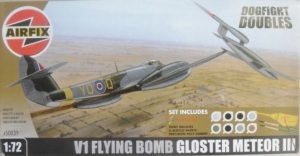 AIRFIX 1/72 50039 V1 FLYING BOMB/GLOSTER METEOR III - NO PAINT/GLUE