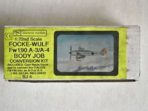 ESOTERIC 1/72 BJ-6 FOCKE-WULF Fw 190 A-3/A-4 CONVERSION KIT