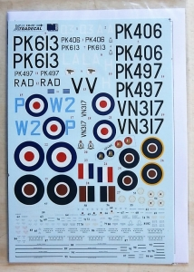 XTRADECAL 1/48 48091 SUPERMARINE SPITFIRE F.22/F.24