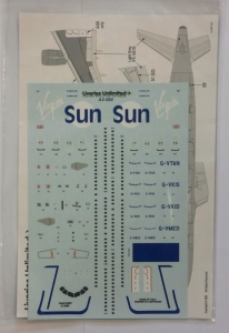 LIVERIES UNLIMITED 1/200 1364. 2202 VIRGIN SUN A320/A321 CFM56-5B ENGINES