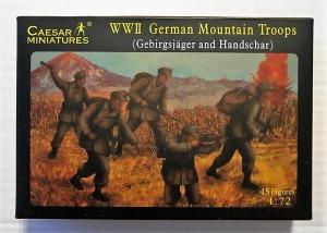 CAESAR MINATURES 1/72 067 WWII GERMAN MOUNTAIN TROOPS