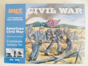 IMEX 1/72 506 CONFEDERATE INFANTRY