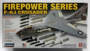 LINDBERG 1/48 72523 FIREPOWER SERIES F-8J CRUSADER
