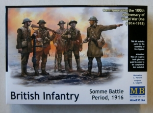 MASTERBOX 1/35 35146 BRITISH INFANTRY SOMME BATTLE PERIOD 1916