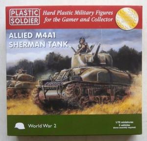 PLASTIC SOLDIER 1/72 WW2V20004 ALLIED M4A1 SHERMAN TANK