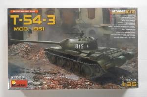 MINIART 1/35 37007 T-54-3 MOD. 1951 SOVIET MEDIUM TANK
