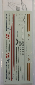 LIVERIES UNLIMITED 1/200 1306. BOEING 737-500 BRAATHENS S.A.F.E ASIANA