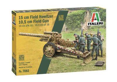 ITALERI 1/72 7082 15CM FIELD HOWITZER/ 10.5CM FIELD GUN