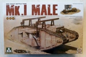 TAKOM 1/35 2031 WWI HEAVY BATTLE TANK Mk.I MALE