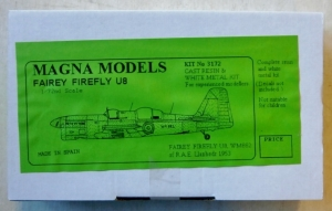 MAGNA 1/72 3172 FAIREY FIREFLY U8 DRONE TARGET