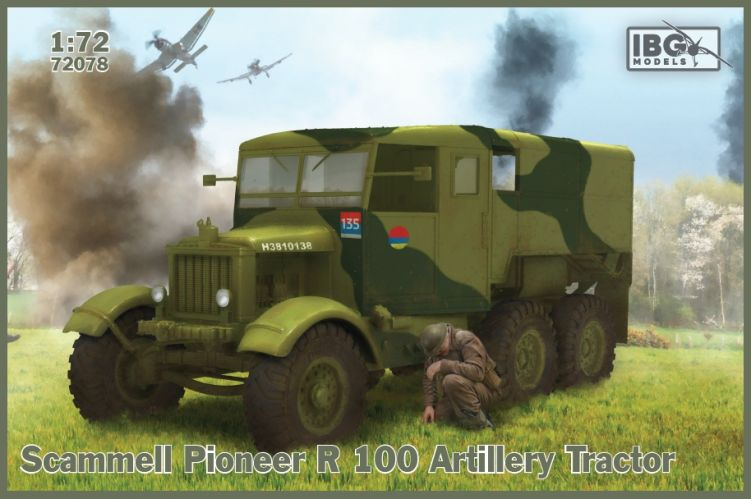 IBG MODELS 1/72 72078 SCAMMELL PIONEER R 100 ARTILLERY TRACTOR