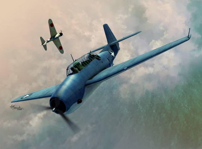 SWORD 1/72 72136 Grumman TBF-1 Avenger over Midway and Guadalcanal