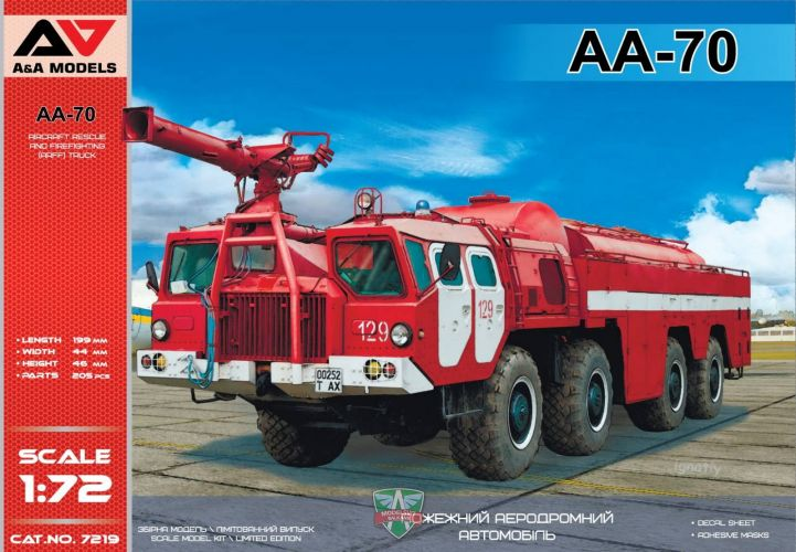 A   A MODELS 1/72 7219 AA-70 AIRPORT FIREFIGHTING TRUCK