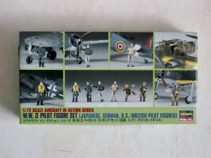 HASEGAWA 1/72 X72-8 WWII PILOT FIGURE SET