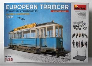 MINIART 1/35 38009 EUROPEAN TRAMCAR w/CREW   PASSENGERS
