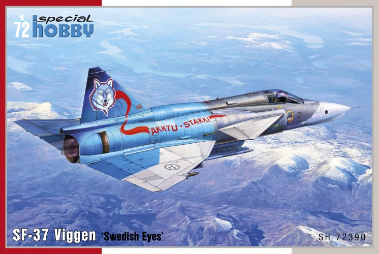 SPECIAL HOBBY 1/72 72390 SF-37 VIGGEN SWEDISH EYES