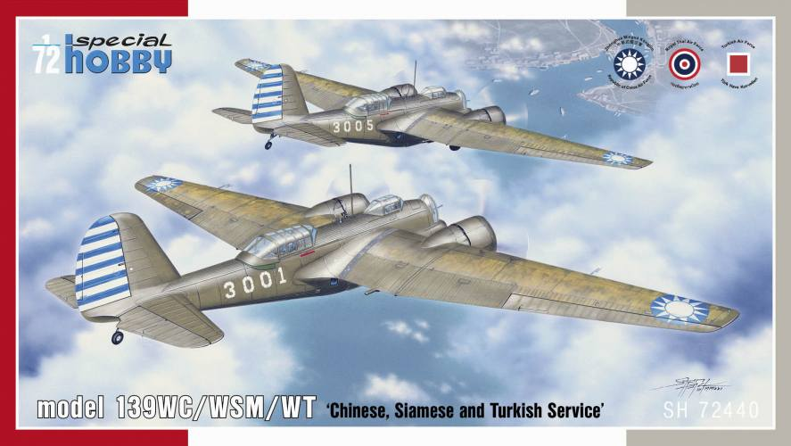 SPECIAL HOBBY 1/72 72440 139WC/WSM/WT Chinese  Siamese and Turkish Service
