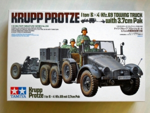 TAMIYA 1/35 35259 KRUPP PROTZE 1 TON  6x4  TOWING TRUCK WITH 3.7cm PAK