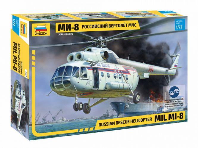 ZVEZDA 1/72 7254 MIL MI-8 RESCUE HELICOPTER