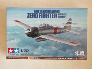 TAMIYA 1/72 60784 MITSUBISHI A6M3 ZERO FIGHTER MODEL 32 HAMP
