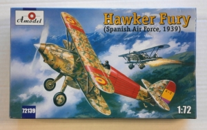 A MODEL 1/72 72139 HAWKER FURY  SPANISH AIR FORCE 1939