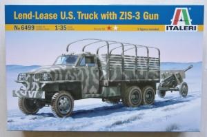 ITALERI 1/35 6499 LEND-LEASE US TRUCK WITH ZIS-3 GUN