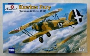 A MODEL 1/72 72140 HAWKER FURY YUGOSLAV 1939