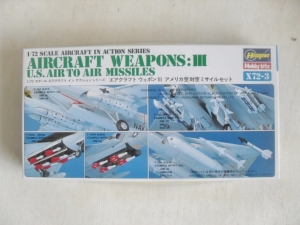 HASEGAWA 1/72 X72-3 AIRCRAFT WEAPONS III US AIR TO AIR MISSILES