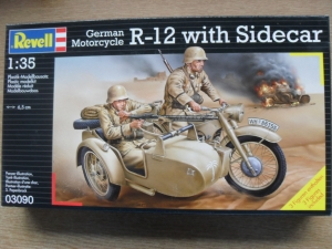 REVELL 1/35 03090 GERMAN R-12 MOTORCYCLE WITH SIDECAR