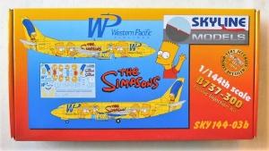 SKYLINE 1/144 144-03B B737-300 WP THE SIMPSONS