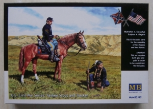 MASTERBOX 1/35 3549 US CIVIL WAR SERIES YANKEE SCOUT AND TRACKER