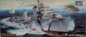 TRUMPETER 1/700 05788 GERMAN ZERSTORER Z-30 1942