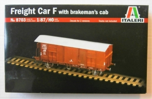 ITALERI HO 8703 FREIGHT CAR F WITH BRAKEMANS CAB